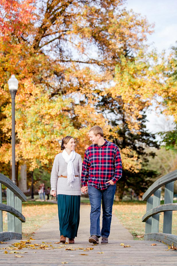 Schiller Park in the Fall Engagement