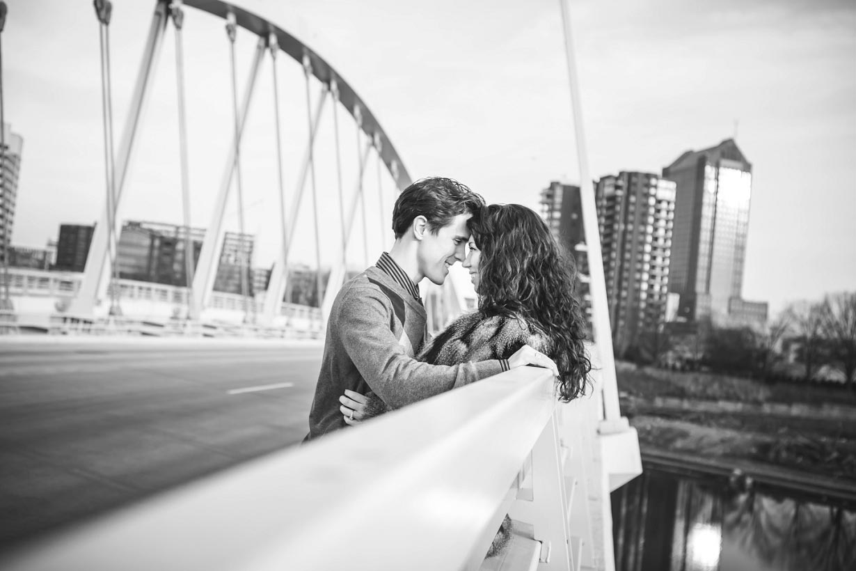 Scioto Mile Bridge Engagement