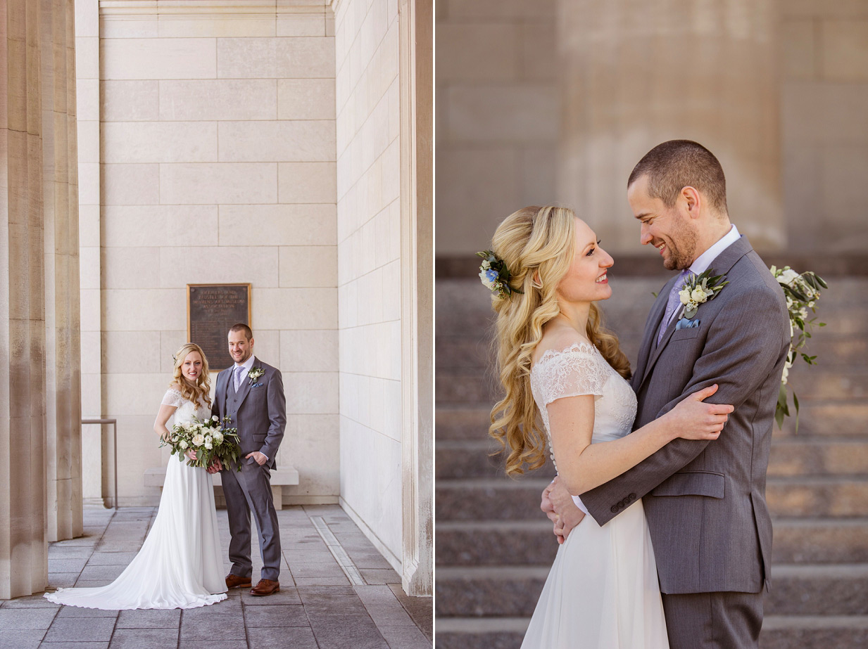 Cincinnati Wedding Portraits of Bride and Groom