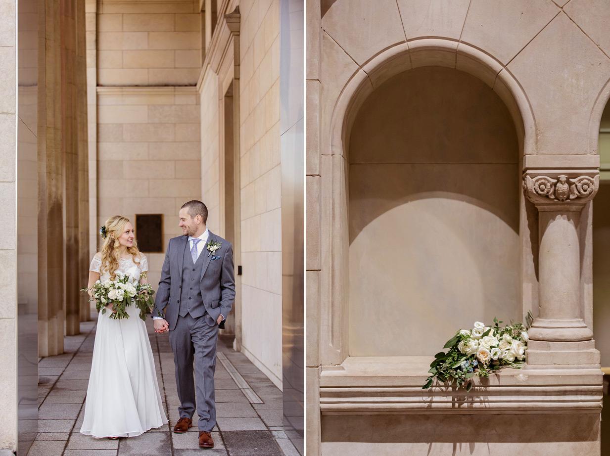 Bride and Groom at Cincinnati Art Museum