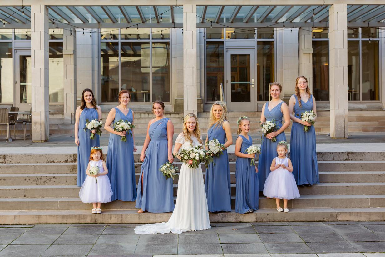 Bridesmaids Steal Blue Dress