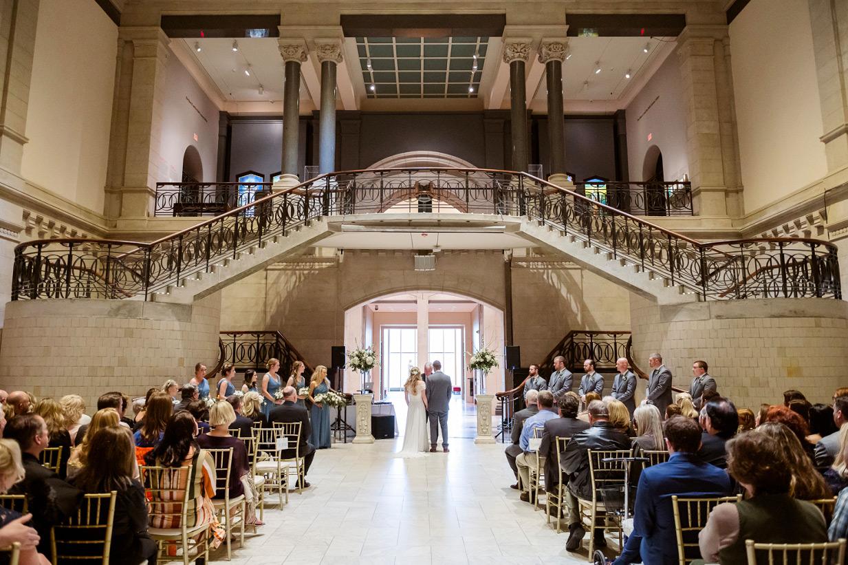 Cincinnati Art Museum Wedding Ceremony in the Grand Hall