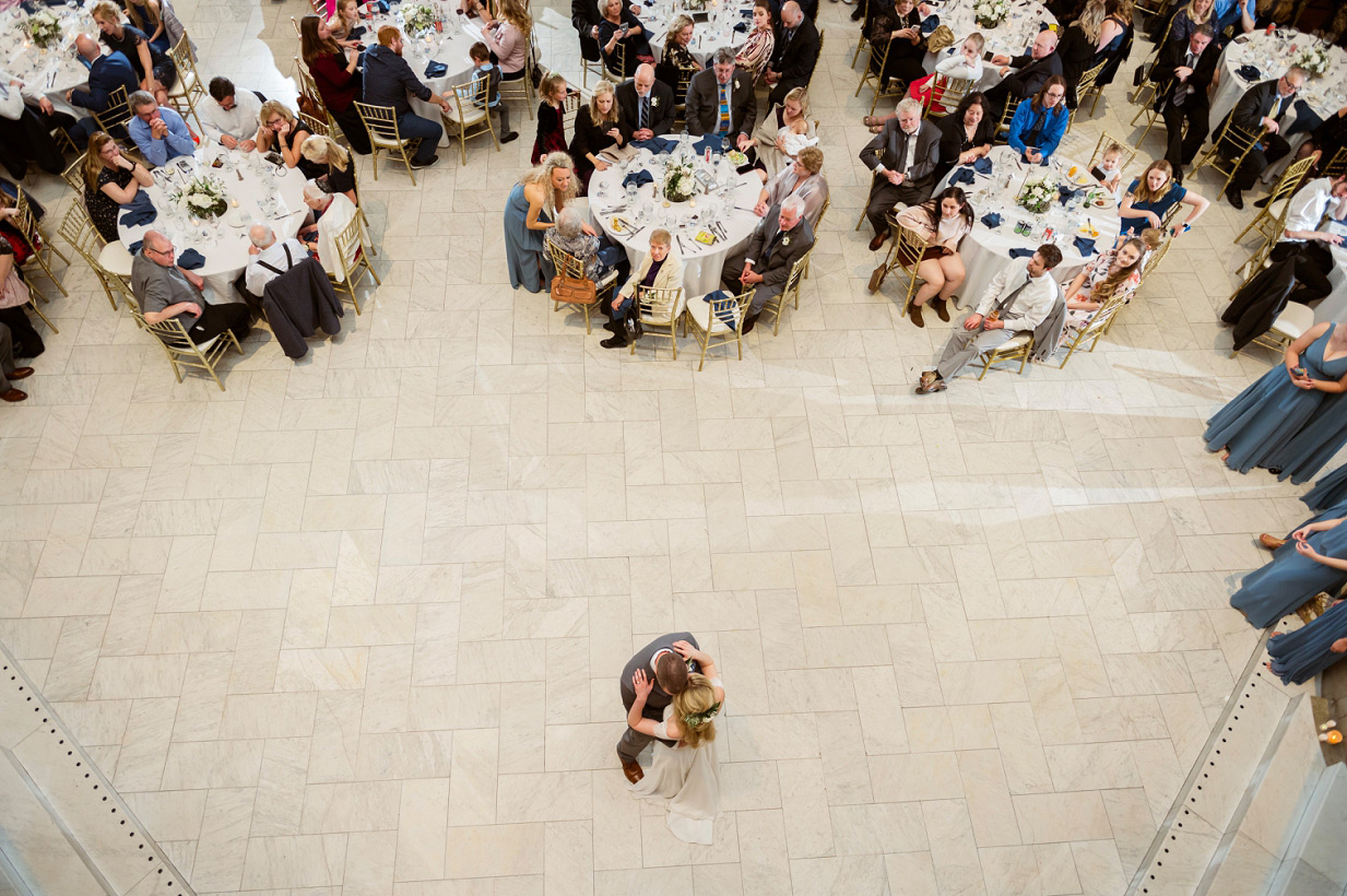 picture from above of first dance
